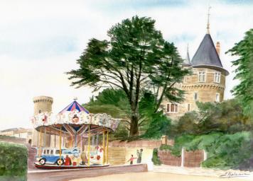 Manège, plage du château
