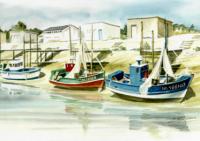 Port ostréicole du COLLET - Bateaux amarés