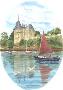 Le BRIGANTIN devant le château
