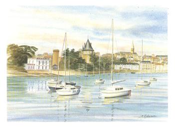 Entrée du vieux port : Malouine, Château, Ville...