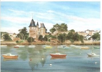 Château de face en été