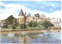 Château en automne, bateau de pêche