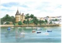 Château vu de Gourmalon en ETE