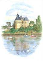 Château dans ovale