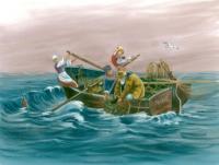 """""""MARIE sur les flots"""" Autrefois la pêche au homard"""