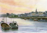 Il y a 30 ans : Coucher de soleil sur le vieux port